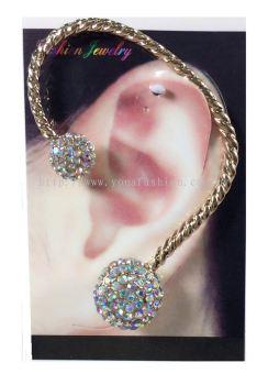 Elegant Full Stone Ear Cuff (Gold/Silver)