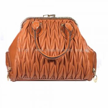 Design PU Leather Handbag (Brown)