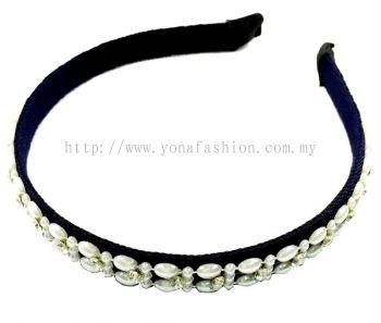 Fancy Beads Hair Band (Black)