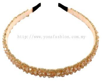 Grand Beads Hair Band (Cream)