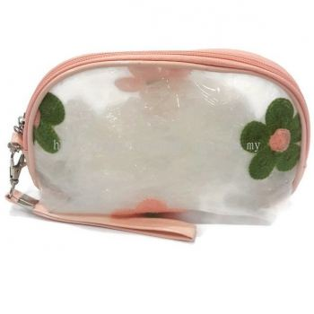 Flower Make Up Pouch (Peach)