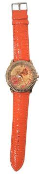 Big Leather Flower Watches (Orange)