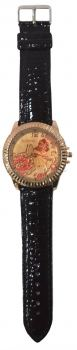 Big Leather Flower Watches (Black)