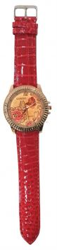 Big Leather Flower Watches (Red)