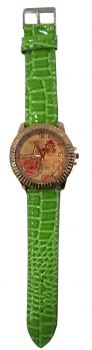 Big Leather Flower Watches (Green)
