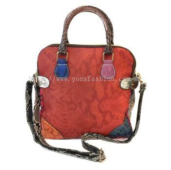 Snake Skin PU Leather Handbag / Sling Bag (Multicolor)