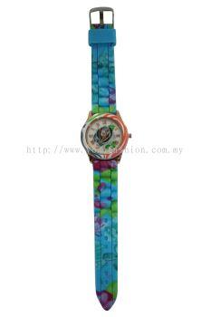 Ladies Colourful Flower Design Watch (Light Blue)
