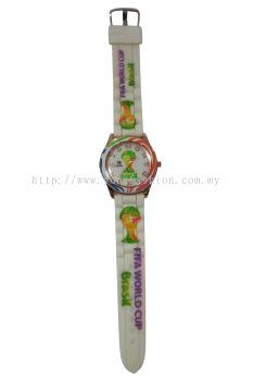 Ladies World Cup Brazil Printed Design Watch (White)