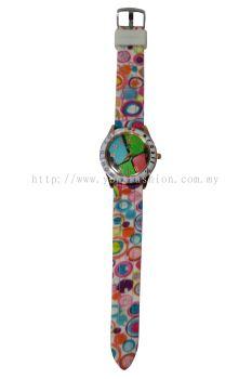 Ladies Colourful Printed Design Watch