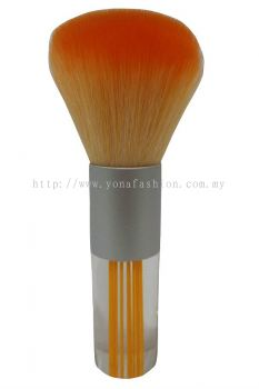 Professional Colourful Small Make-Up Brush (Orange White)