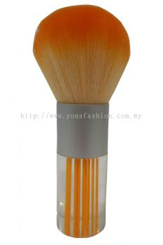 Professional Colourful Big Make-Up Brush (Orange White)
