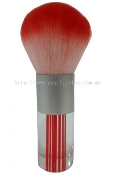 Professional Colourful Big Make-Up Brush (Red White)