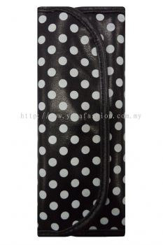 Ladies Polkadot Design 7pcs Makeup Brush Set (Black & White)