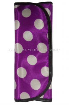 Ladies Polkadot Design 7pcs Makeup Brush Set (Purple & White)