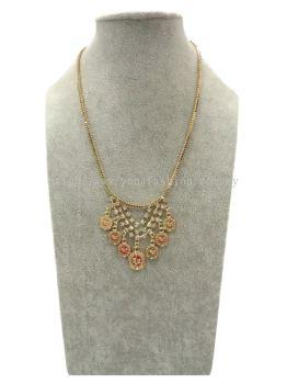 Fancy Coins Rhinestone Chain (Gold)