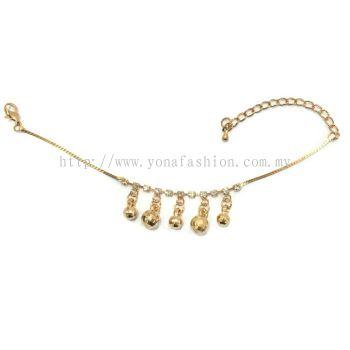 Designer Rhinestone Anklet (Gold Plated)