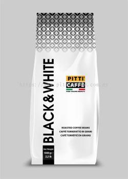 Black & White Coffee Beans