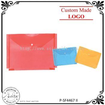 Colorful File Bag Filing Folder Transparent Document Stationery Pack P-SF4467-II