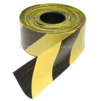 Barricade Tape, Black/ Yellow