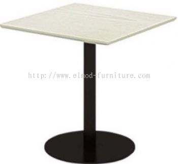 Square Table With Round MS Leg