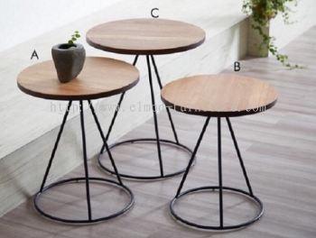 Seoul Nesting Table With Round Base