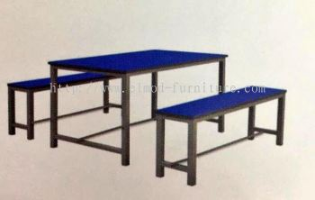6 Seater Canteen Table & Bench