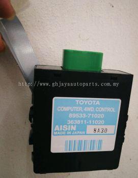 TY KUN25 AUTO GEAR TRANSMISSION ECU 89533-71020