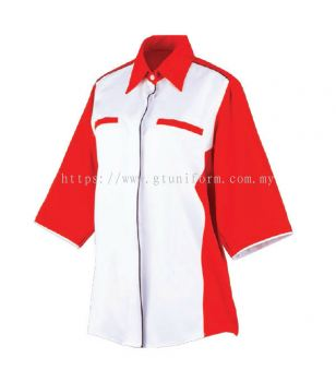 READY MANDE UNIFORM F0601 (White & Red)