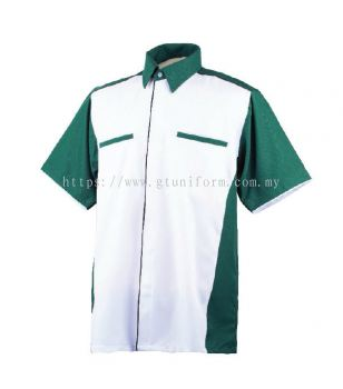 READY MADE UNIFORM M0611 (White & D. Green)