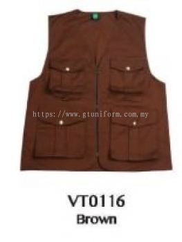 READY MADE VEST VT0116 (BROWN)