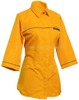 READY MADE UNIFORM F0114 (G.Yellow & Black)