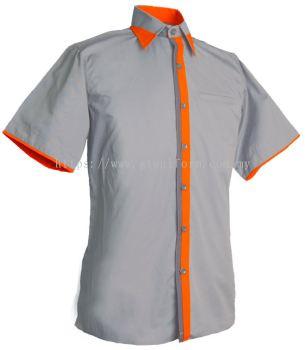 READY MADE UNIFORM M0715 (Grey & Orange & D.Grey)
