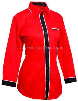 READY MADE UNIFORM F0801 (Red & Black & White)