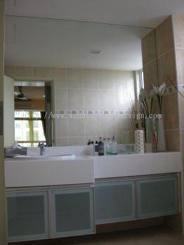 Aluminium Carcass Vanity Cabinet with Mirror