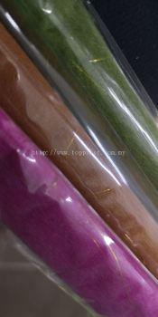 3022 Tissue Wrapping Paper Gold Line 60x60cm £¨DrGR/BK/SkyBL/AppleGR/PK£©
