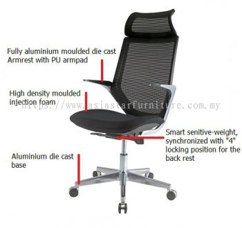 Z1 MESH HIGH BACK CHAIR SPECIFICATION