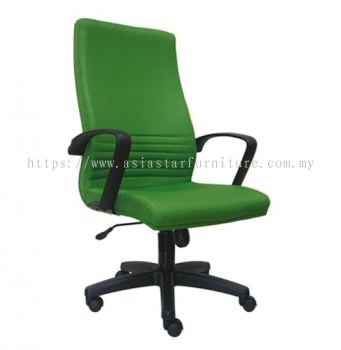DEMO HIGH BACK CHAIR WITH POLYPROPYLENE BASE ASE211