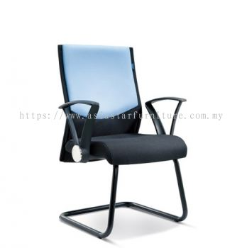 AMAXIM VISITOR CHAIR WITH EPOXY BLACK CANTILEVER BASE ASE 2584