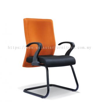 MERIT VISITOR CHAIR WITH EPOXY BLACK CANTILEVER BASE ASE2054