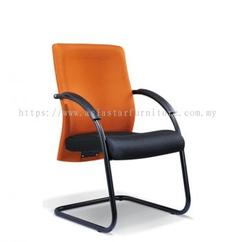 MERIT VISITOR CHAIR WITH EPOXY BLACK CANTILEVER BASE ASE2055