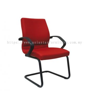 VIPSA VISITOR CHAIR WITH EPOXY BLACK CANTILEVER BASE ASE 173