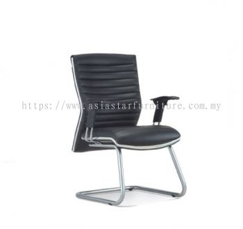 ALPHA DIRECTOR VISITOR CHAIR WITH CHROME TRIMMING LINE ASE 648