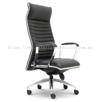 CONQUEROR DIRECTOR HIGH BACK CHAIR WITH CHROME TRIMMING LINE ASE 2011