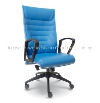 CHALLENGE HIGH BACK CHAIR WITH CHROME TRIMMING LINE ASE2511