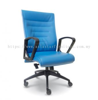 CHALLENGE MEDIUM BACK CHAIR WITH CHROME TRIMMING LINE ASE2512