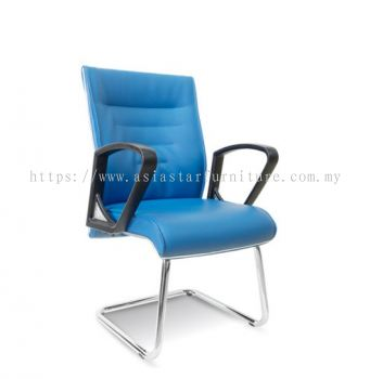 CHALLENGE VISITOR CHAIR WITH CHROME TRIMMING LINE ASE2514