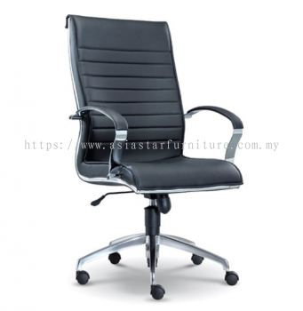DIRECTIV HIGH BACK CHAIR WITH CHROME TRIMMING LINE ASE1061