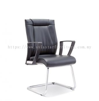 GREATER VISITOR CHAIR WITH CHROME TRIMMING LINE ASE2524