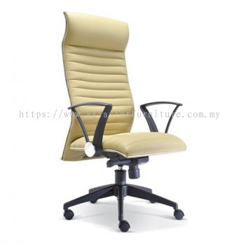 HOMEY HIGH BACK CHAIR WITH CHROME TRIMMING LINE ASE2381