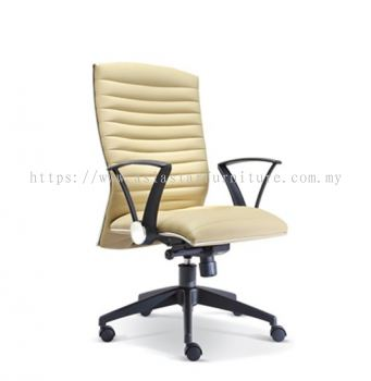 HOMEY MEDIUM BACK CHAIR WITH CHROME TRIMMING LINE ASE2382